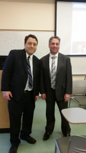 Matt Weinick and Dr. Rich Morfopolous at SUNY Old Westbury