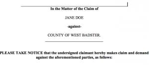 Notice of Claim