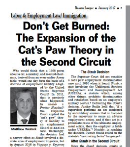 Nassau Lawyer Publishes Weinick's Article