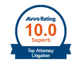 Long Island Employment Lawyer Peter J. Famighetti rated 10