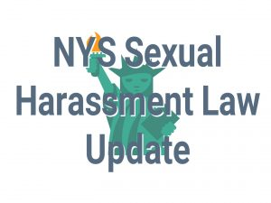 NYS Sexual Harassment Law Update