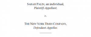Sarah Palin's Defamation Lawsuit