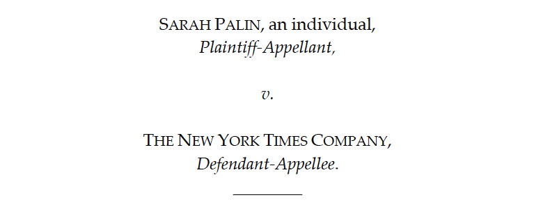 The Second Circuit Decides Case Concerning Sarah Palin's ... on white map, election map, media map, pope map, abortion map, brown map, war map, miller map, religion map, nixon map, martin map, economy map, thomas map, pierce map, paris map, gray map,