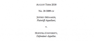 The rights of the accused- Menaker v. Hofstra