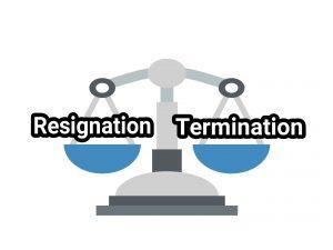 Resignation or termination ultimatums